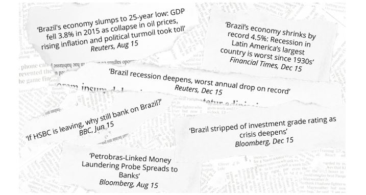 Figure 2: Reading the headlines, an investor could easily have run for the hills.